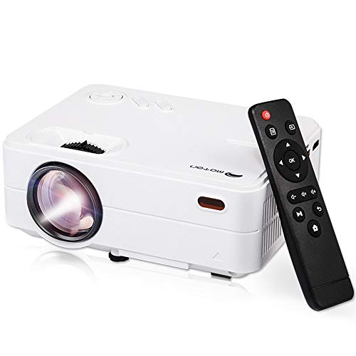 """Mini Projector Portable, Home Theater Projector, Outdoor Projector 1080P, 55,000 Hrs 2800L 200"""" Movie Projector Compatible with Smartphones, Fire Stick, TV Box, Laptop, DVD, PS4, VGA, USB, HDMI"""