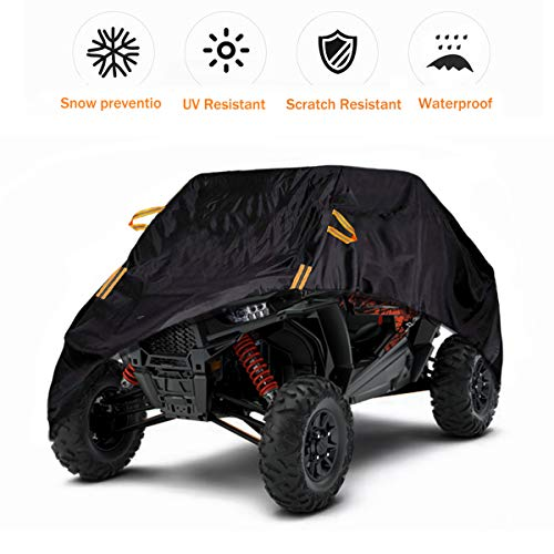 UTV Cover Waterproof 2-3 Seater Heavy Duty Oxford Cloth Suit for Polaris Ranger RZR Can-Am Defender Kawasaki Mule Yamaha Honda Pioneer All Weather Protection Cover
