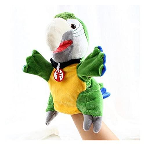 XINGYAO Muñeca de Dedo Simulación Pájaro Suave Parrot de Parrote Mano de Pollos Muñecas Relleno Muñeca Juguete Niños Regalo Dedos Pupones Mano Puppets Cuentan Historia para niños (Color : Green)