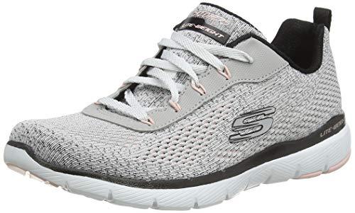 Skechers Damen Flex Appeal 3.0 Sneaker, Weiß, 38 EU