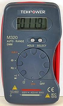 Tekpower M320 Auto-ranging AC/DC Pocket Size Digital Multimeter