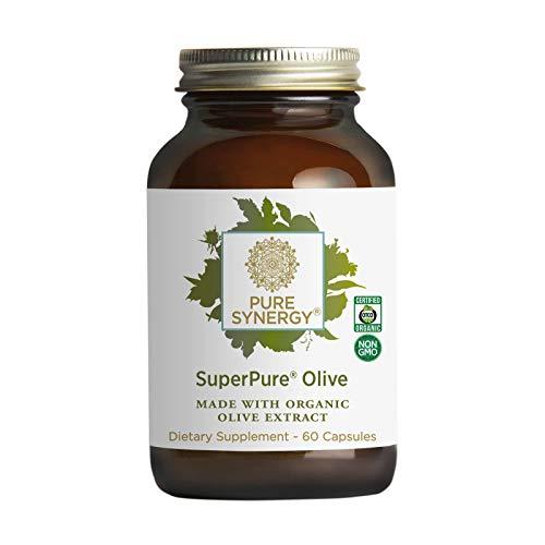 Pure Synergy SuperPure Olive Leaf, Oil, Fruit Extract (60 Capsules) w/Oleuropein & Hydroxytyrosol