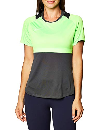 NIKE Camiseta de Mujer Academy Pro Top para Mujer, Mujer, BV6940-062, Verde - Gris, Extra-Small