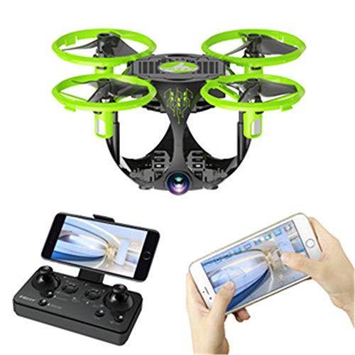 TONGTONG Drone, avión Quad-Axis Remoto, con 720P HD WiFi Video en Vivo cámara inalámbrica Auto Hover Altura Mantener el Modo sin Cabeza Flip 3D