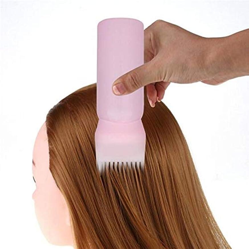 スクラッチスペード違反するACAMPTAR 染色シャンプーボトル オイル櫛 120MLヘアツール ヘア染色アプリケーター ブラシ ボトル スタイリングツール 染毛