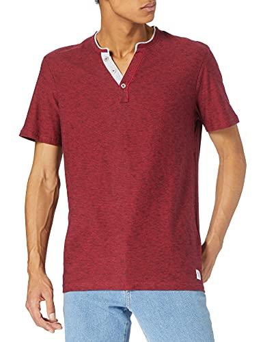 Tom Tailor 1026162 Striped Camiseta, 27192 Power Red Fine Stripe, L para Hombre
