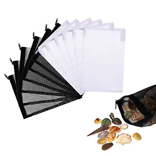 yyuezhi 20 Bolsas de Filtro de Acuario Bolsas de Filtro Reutilizable para Acuario Bolsas de Malla Nylon Bolsa de Filtro de Malla con Cremallera para Jardín Estanque Acuario (15 X 20cm)