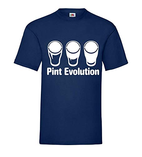 Pint Evolution - bierglas mannen T-shirt - shirt84.de