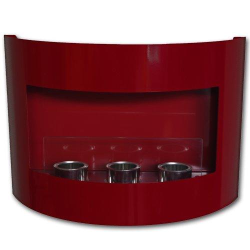 Nuovo Design Camino a gel /a Bio Etanolo Riviera Caminetto + vetro di sicurezza (Rosso)
