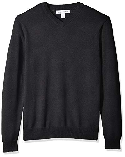 Amazon Essentials Men's V-Neck Sweater, Charcoal Heather, X-Large
