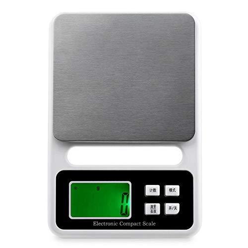 ZCY digitale keukenweegschaal 3 kg / 0,1 G nauwkeurige elektronische weegschaal eten wegen bakken balansweegschaal voor thee, fruit, koffie, tara en Zero Funtion ES1008