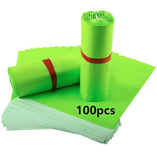 30cm*42cm 100pcs Bolsas para Envíos Bolsas de Plástico correo Bolsas para embalaje Opaca Resistente Al agua y al Polvo para Ropa Envíos Postales(verde)