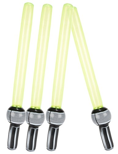 les colis noirs lcn 4 Sabres Laser gonflables en Plastique - Taille - Taille Unique - 211683