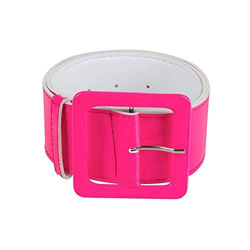Boland 01989 - Gürtel neonrosa, ca. 115 x 5,5 cm, pink, Neon, Disco, Rave, Retro, 80er Jahre, Schlager Move, Karneval, Halloween, Fasching, Mottoparty, Verkleidung, Theater, Accessoire