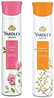 Yardley London Deodorant For Women English Rose and Sandalwood Combo Pack 2 (150 ml)