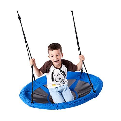 ROCK1ON schotel boom schommels 330 lbs gewicht capaciteit 40 inch opknoping Swing riem voor kinderen volwassenen Verstelbare Multi-Strand Touwen Swing Kit Waterdichte 900D Oxford Anti-Fade Seat Eenvoudige installatie