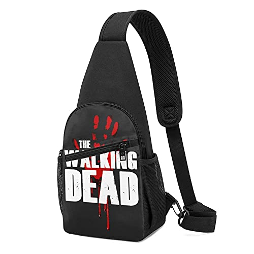 The Walking Dead Logo Crossbody Sling Bags Multifunción Hombro Bolsa de Pecho Senderismo Camping Mochila Deportiva