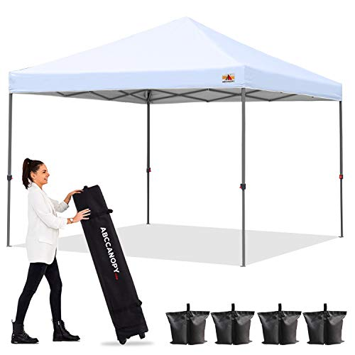 ABCCANOPY Outdoor Easy Pop up Canopy Tent 10x10 Central Lock-Series, White