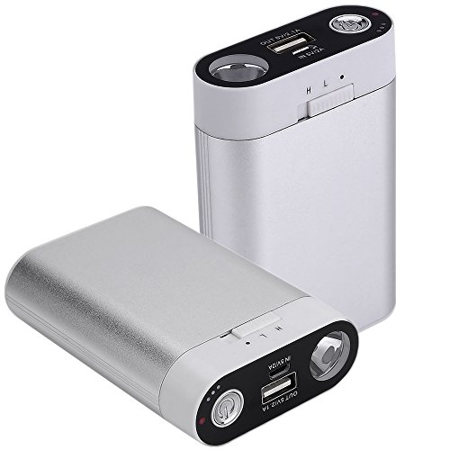 Ewarmer Hand Warmers/Power Bank 7800mAh, Rechargeable Hand Warmer, 7800mah Portable USB Hand Warmer/Power Bank 7800, Portable Battery Charger with LED Flashlight for Cold Winter (Silver)