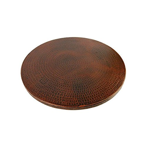 Hand-hammered Copper 18-inch Lazy Susan for Tabletop, Pantry and Cabinet