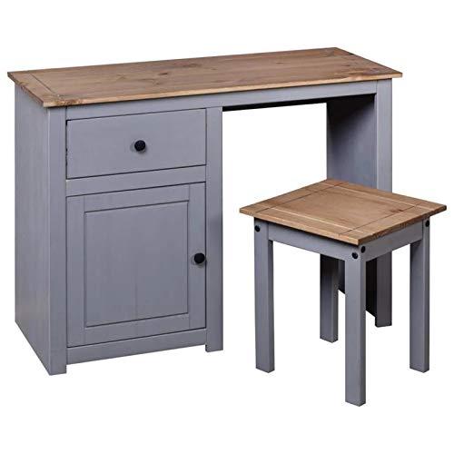 QWSX Simple design Modern bedroom furniture dressing table dressing table pine gray dressing room dressing table simple design (Color : Gray)