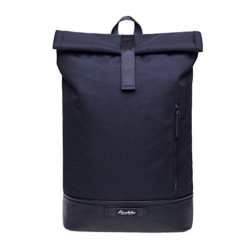 """KAUKKO Rucksack Roll Top Backpack Lässiger Vintage Tagesrucksack Herren Laptop Schulrucksack fit 15\"""" Notebook Bag für Wandern Reisen Camping"""
