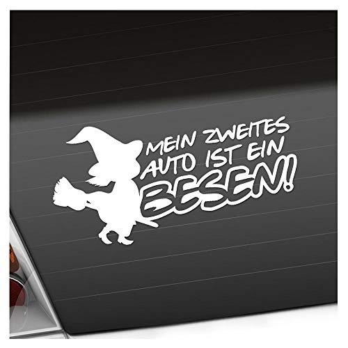 KIWISTAR Aufkleber - Mein zweites Auto ist ein Besen! - Autoaufkleber Sticker Bomb Decals Tuning Bekleben