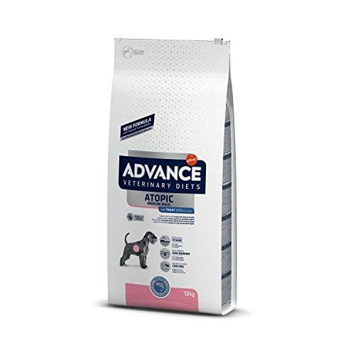 ADVANCE Veterinary Diets Atopic Medium-Maxi - Croquettes pour Chien Adulte avec Dermatite Atopique avec Truite - 12Kg