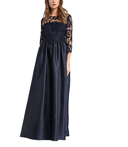 APART Fashion Damen 33868 Kleid, Blau (Nachtblau), 42