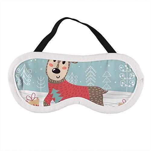 Tragbare Augenmaske für Männer und Frauen, Holly Jolly Weihnachtsgrußkarte, die beste Schlafmaske für Reisen, Nickerchen, gibt Ihnen die beste Schlafumgebung