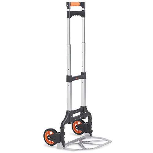 VonHaus 70kg Hand Truck/Sack Trolley - Multi-Functional Folding Dolly For...
