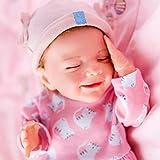 """リボーンドール19.7"""" (50センチメートル)本当の赤ちゃんのような-sheルックスは、彼女は非常に滑らかで、柔らかなタッチに、彼女はかわいいマッチングとかわいいピンクのニットロンパースを着ているボンネット"""