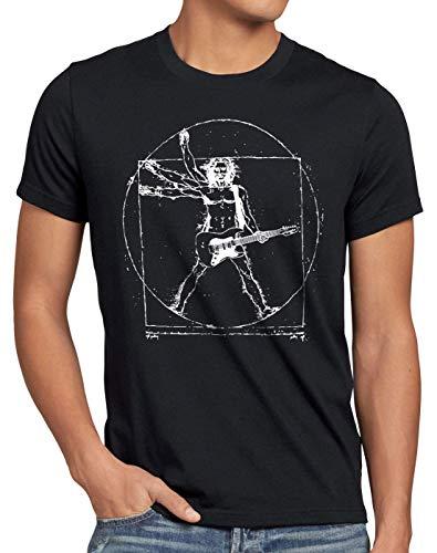 style3 Da Vinci Rock Herren T-Shirt Musik Festival, Größe:XL, Farbe:Schwarz