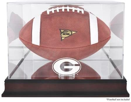 2021 autumn and winter new Georgia Bulldogs Mahogany Base Logo M Display with Case Football OFFicial