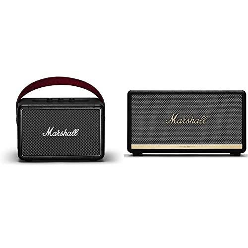 Marshall Kilburn II Portable Bluetooth Speaker - Black (1002634) & Stanmore II Wireless Bluetooth Speaker, Black - New