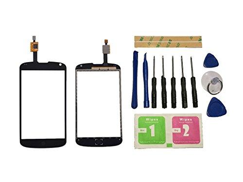 Flügel for LG Google Nexus 4 E960 Touchscreen Display Digitizer Glas Schwarz Bildschirm Frontglas (Ohne LCD) Ersatzteile & Werkzeuge & Kleber
