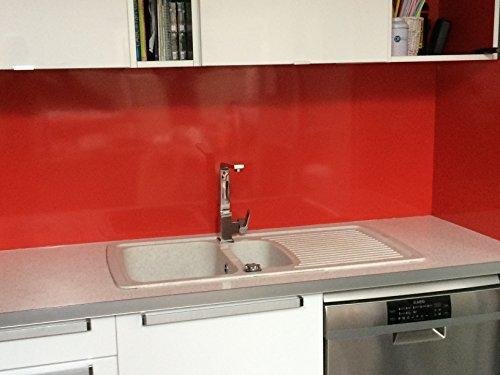 Boden für Dunstabzugshaube/Kredenz Aluminium rot 8Größen–Höhe 75cm x, rot, Longueur 90 cm
