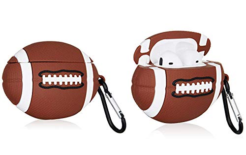 Rugby Airpods Case Football Sports Anime Silicone Case Accessoires Airpods Soccer Cover Funny Cool Cover for Airpods 1&2 Best Birthday Gifts for Kids or Couples…