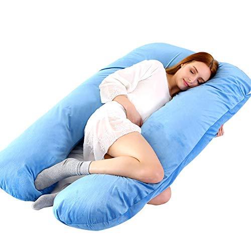 Bananair - Almohada de lactancia, en U, desenfundable, para embarazo, almohada de cuerpo, lavable en lavadora