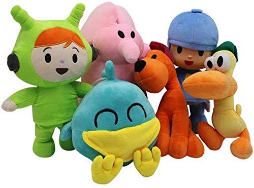 Modi Pocoyo Plush 5.5' - 12' Pocoyo Loula Elly Pato Doll Stuffed Animals Soft Figure Anime Collection Toy (6 PCS)