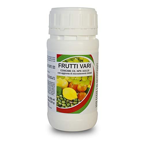 bio A.L.T. Concime Liquido con Azoto Fosforo Potassio Fertilizzante Frutti Vari Giardino e Orto Migliora la Crescita delle Colture in Giardino e per Piante in Appartamento in Esterno in Vaso (250 ML)