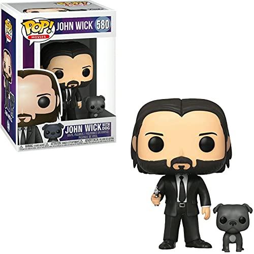Figura De Vinilo # 580 John Wick con Perro Pop Figura De Acción Modelo Juguetes Película Muñeca...