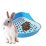 Ruluti Bandeja De Bastera De Bandeja De Inodoro De Conejo Pequeño Esquina De Esquina para Animales, Esquina De Bandejas De Basura para Hámster De Conejo 1pc (Color Azar)