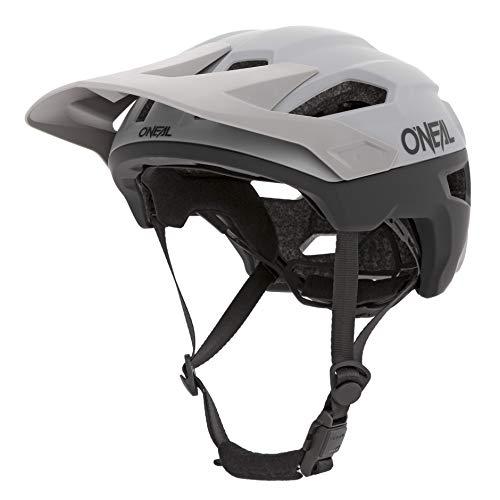 O'NEAL   Casco da Mountainbike   MTB   Prese d'aria per ventilazione, sistema di regolazione della Taglia, standard di sicurezza EN1078   Casco Trailfinder Split   Adulto   Grigio   Taglia S/M