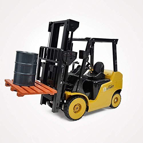 Ladan RC Radio Remote Forklift, 1:14 Simulation Model Toy Vehicle, 8 Channel Car Model with Remote Control Wireless, Construction Tractor Toys Auto Kids Children Boys Gift