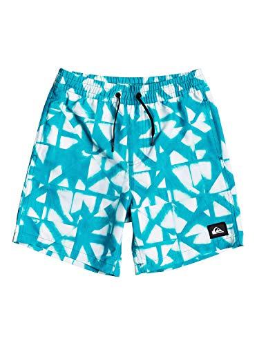 Quiksilver Dye Check Volley Garçon 8-16 Ans 15 Short de Bain Garçon, Bleu (Caribbean Sea), L (Taille Fabricant : L/14)