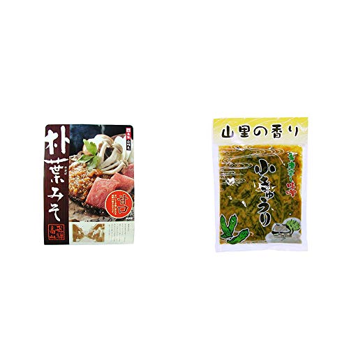 [2点セット] 飛騨山味屋 朴葉みそ(約2人前)・山里の香り 青唐辛し味噌 小きゅうり(250g)