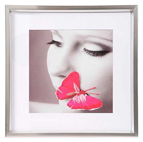 Ideal Style Kunststoff Bilderrahmen quadratisch 20x20 30x30 40x40 50x50 Rahmen: Farbe: Silber | Format: 50x50