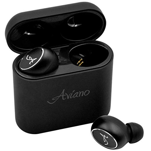 Bluetooth Earbuds 5.0, AVIANO A90 Wireless Earphones (True HD Sound) with Microphone - Latest Bluetooth 5.0 Cordless Headphones | Long Lasting Earbuds | Stereo Quality Ear Buds with Charging Case
