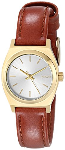 Nixon A5091976-00 - Reloj para Mujer, Cuarzo, analógico, Correa de Piel, Color Negro